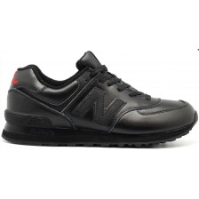 New Balance 574 (Black Leather) 356