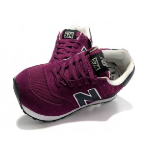 New Balance 574 Mens Burgundy 362