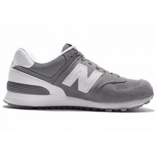New Balance 574 Mens / WMNS (Grey / White) 382