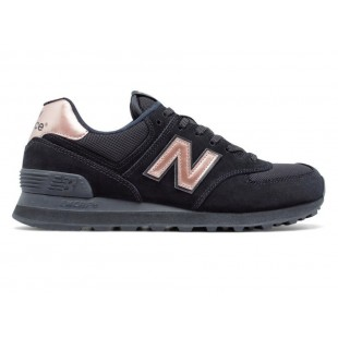 Кроссовки New Balance 574 (Black / Gold) 001