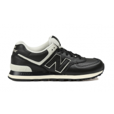 New Balance 574 (Black Leather) 036