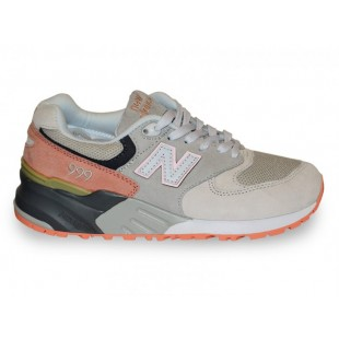 Кроссовки New Balance 999 (Light Grey / Orange) 042