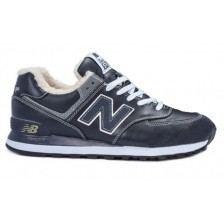 New Balance 574 Leather Winter (Blue)