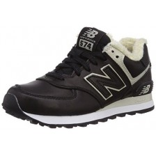 New Balance 574 Winter (Black Leather)