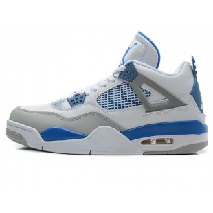 Кроссовки Nike Air Jordan 4 Retro White Blue