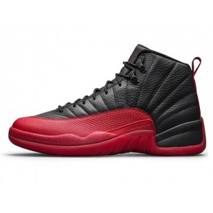 Кроссовки Nike Air Jordan 12 Retro Flu Game Jumpman Black Red