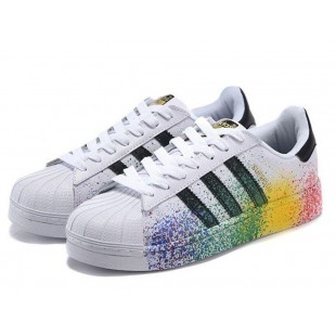 Adidas Superstar White with Paint