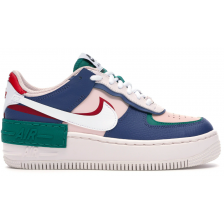 Nike Air Force 1 Low Shadow Mystic (белые с синим)