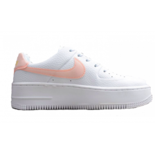 Nike Air Force 1 Low Af Sage White (белые с розовым)