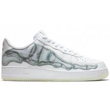 Nike Air Force 1 Skeleton Qs Low White белые