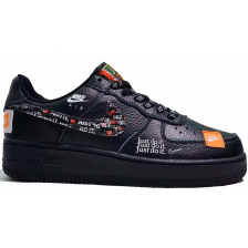 Nike Air Force 1 Low Just Do It White Black черные