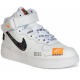 Nike Air Force 1 Mid Just Do It White белые