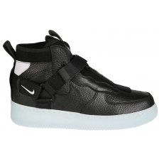 Nike Air Force 1 Mid Utility Black (черные)