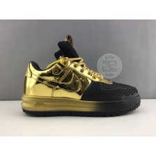 Nike Lunar Force 1 Gold Black (36-40) арт. 127ma