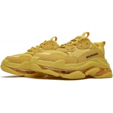 Balenciaga Triple S Clear Sole Trainers Fluorescent Yellow