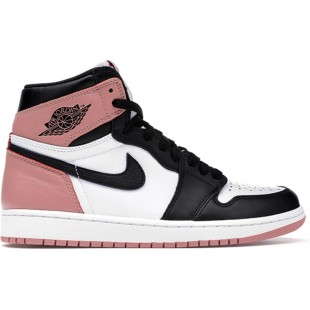 NIKE AIR JORDAN RETRO 1 HIGH PINK (РОЗОВЫЕ С ЧЕРНЫМ)