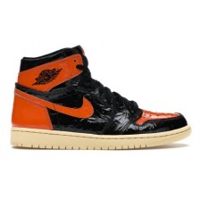 NIKE AIR JORDAN RETRO 1 HIGH BLACK ORANGE (ЧЕРНЫЕ С ОРАНЖЕВЫМ)