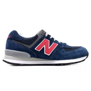 Кроссовки New Balance 574 Blue / Red 303