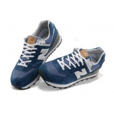 New Balance 574 Blue / White